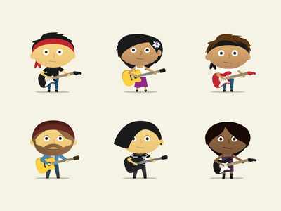 Guitar Student Avatars