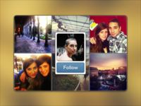 Instagram Widget (default state)