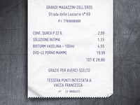 Grandi Magazzini Dell' Eros Ticket New