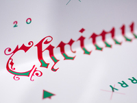Blackletter Christmas Card