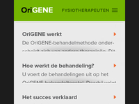 Origene mobile interface