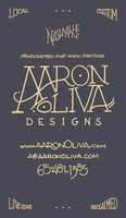 Oliva Business Card For Handcrafted Furniture Maker