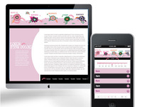 Stylish, floral layout for mobile and web