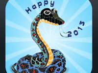 Happy Year 2013 Snake 400x400
