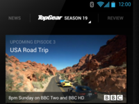 redesigning the Top Gear app
