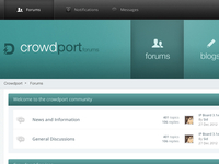 Crowdport Forum V2 concept