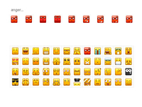 pixels emoticons