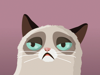 Vector Grumpy cat v.2