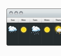 Mac Weather Widget