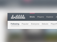Free Dribbble Header .PSD