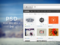 FREE PSD! Mini Browser