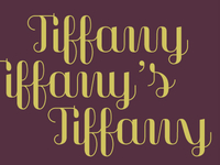 'Tiffany for Tiffany'. New display typeface