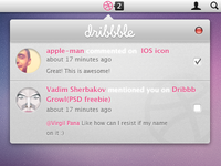 Notifications (for Dribbble)