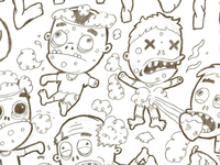 Adorable Zombies Sketch