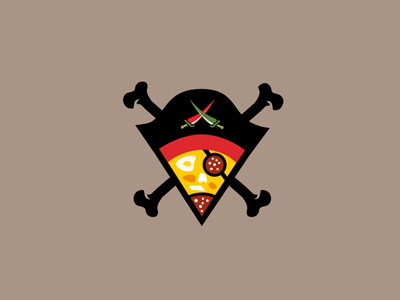 Pizza-caribbean-pirates-design-slice-pizza-logo-caribic