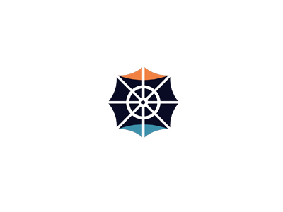 Sailor-logo-design-sea-sun-boat-steering-wheel-logo
