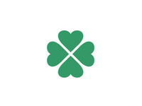 Kisac Village Logo (Hearts Four Leaf Clover)