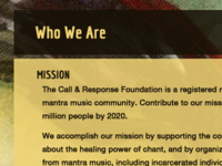 Call and Response Foundation Mission Page