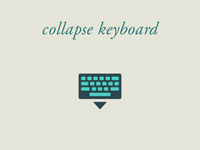 Collapse Keyboard