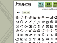 Drawn Icons - Hand Drawn Vector Icon Set
