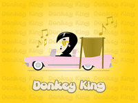 Donkey King in his ride!