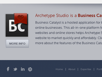 Archetype Website Footer