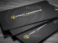 Black - yellow Business Card