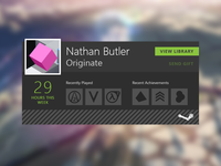 Steam Gaming Widget