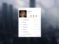 Google Music Mini-Player (PSD)