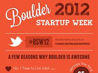 Boulder Startup Week welcoming banner