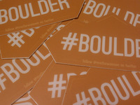 #BOULDER stickers for Boulder Startup Week