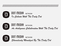 Dot Media Network logo versions