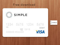 Simple Bank Card Download