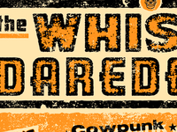 Type for The Whiskey Daredevils tour poster