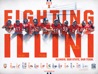 2013 Illinois Football Schedule Poster