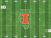 Memorial Stadium midfield logo