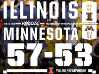 Final Score Graphic vs. #18 Minnesota