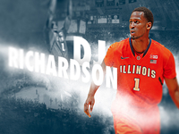 Illinois Basketball Game Poster feat. DJ Richardson