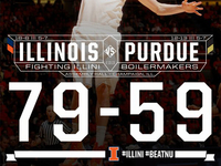 Final Score Graphic vs. Purdue