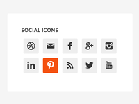 Genesis 2.0 Sidebar Widget with Simple Social Icons