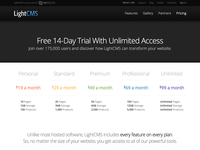 LightCMS Pricing Table