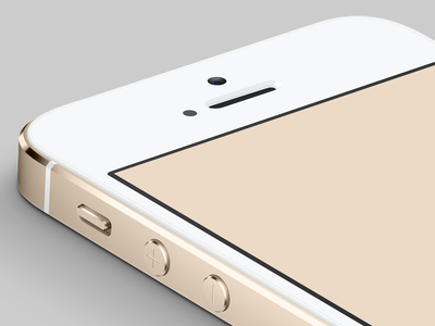 Download Gold iPhone 5S Photoshop PSD (side angle)