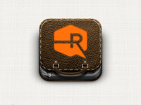Portfolio iOS icon: Brown Leather