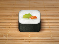 Sushi Roll iOS App Icon