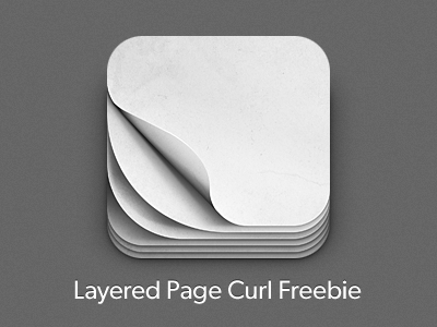 Download iOS Pagecurl Icon Freebie