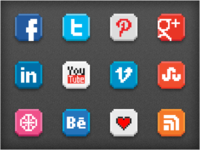 Free download: 8-bit social icon pack