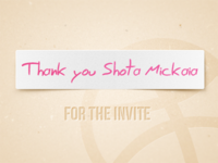 Thank you Shota!