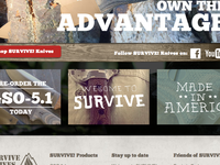 SURVIVE! Knives home