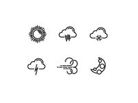 Weather Icons Round1