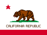 California Pixel Flag